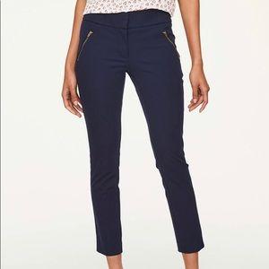 Modern Skinny Ankle Bi-Stretch Zipper Pocket Pants